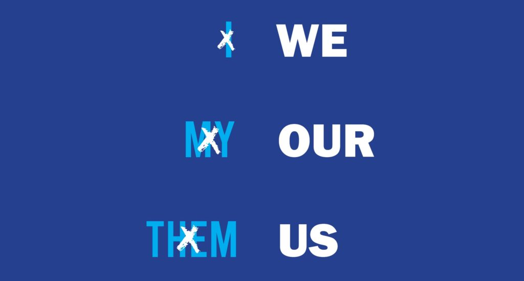 We Our Us Design for email
